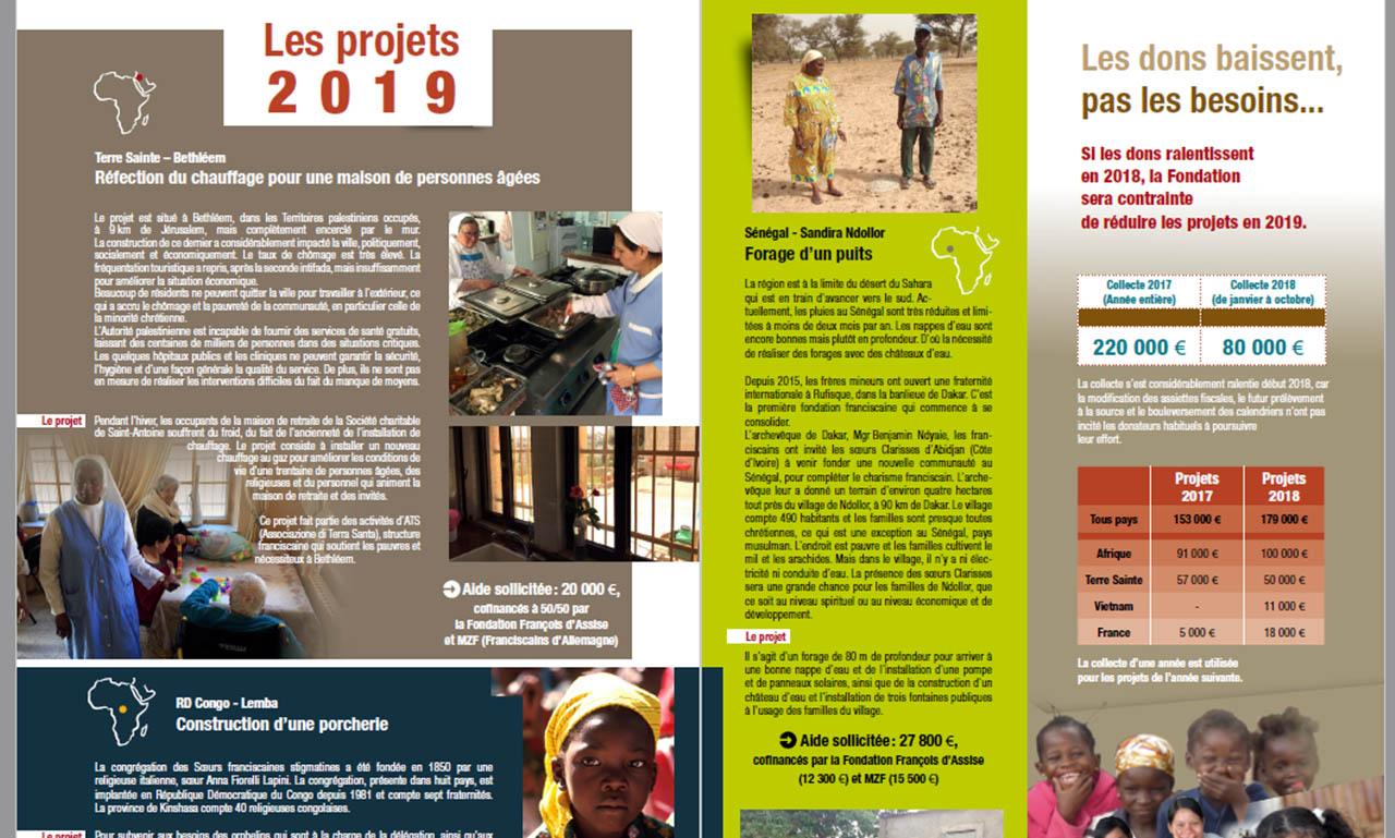 découvrez les projets 2019 en téléchargeant l'appel à générosité