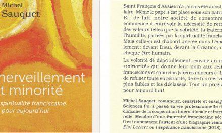 Michel Sauquet publie : Emerveillement et minorité