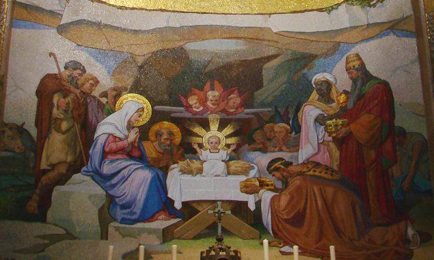 """4ème joie de Marie : """"tombant à genoux, ils se prosternèrent devant lui"""""""